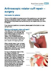 Arthroscopic rotator cuff repair surgery