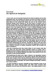 Arthur Schnitzler Das Tagebuch der Redegonda