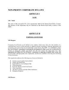 ARTICLE I ARTICLE II
