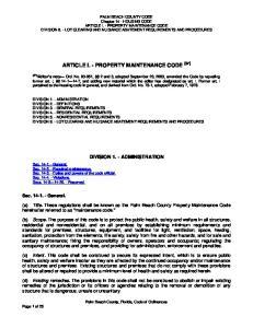 ARTICLE I. - PROPERTY MAINTENANCE CODE [87]