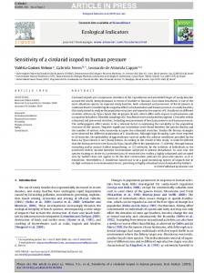 ARTICLE IN PRESS. Ecological Indicators xxx (2010) xxx xxx. Contents lists available at ScienceDirect. Ecological Indicators