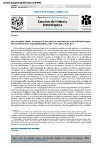 ARTICLE IN PRESS. Estudios de Historia Novohispana xxx (2016) xxx xxx. Disponible en  Estudios de Historia Novohispana