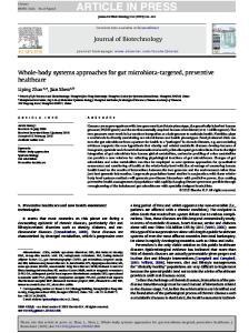 ARTICLE IN PRESS Journal of Biotechnology xxx (2010) xxx xxx
