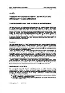 Article Museums for science education: can we make the difference? The case of the EST