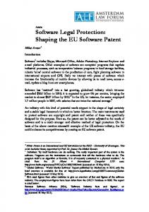 Article Software Legal Protection: Shaping the EU Software Patent