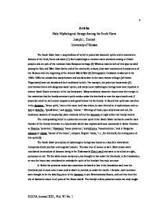 Articles Male Mythological Beings Among the South Slavs Joseph L. Conrad University of Kansas
