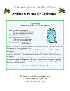 Articles & Poems for Christmas
