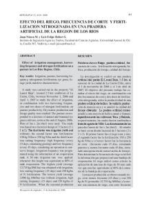 ARTIFICIAL DE LA REGION DE LOS RIOS