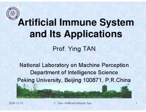 Artificial Immune System and Its Applications