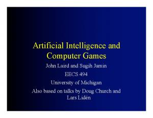 Artificial Intelligence and Computer Games