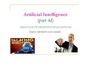 Artificial Intelligence (part 4d)