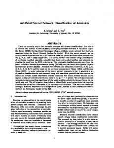 Artificial Neural Network Classification of Asteroids