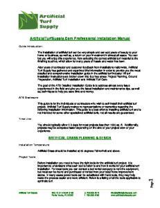 ArtificialTurfSupply.Com Professional Installation Manual