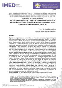 Artigo. Pedro Henrique Carretta Diniz Caliane Christie Oliveira de Almeida **
