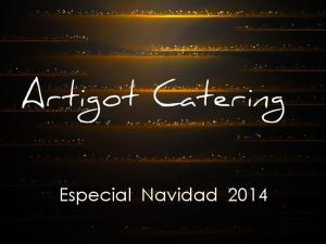 Artigot Catering. Especial Navidad 2014
