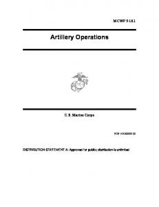 Artillery Operations
