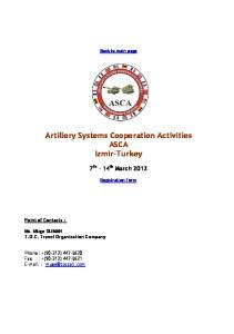 Artillery Systems Cooperation Activities ASCA Izmir-Turkey