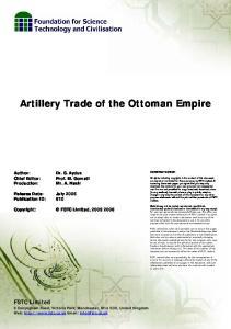 Artillery Trade of the Ottoman Empire