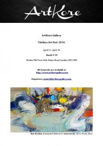 ArtKore Gallery. Chelsea Art Fair 2016