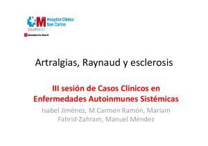 Artralgias, Raynaud y esclerosis