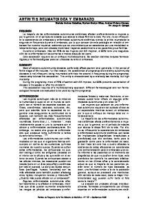 ARTRITIS REUMATOIDEA Y EMBARAZO