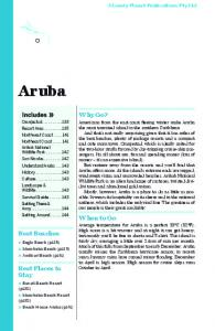 Aruba. Why Go? When to Go. Best Beaches. Best Places to Stay. Lonely Planet Publications Pty Ltd