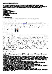 ARX-manager PC Anwenderhandbuch