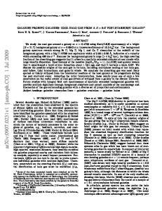 arxiv: v1 [astro-ph.co] 1 Jul 2009