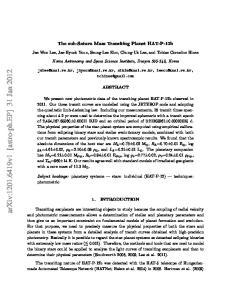 arxiv: v1 [astro-ph.ep] 31 Jan 2012