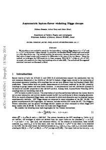 arxiv: v1 [hep-ph] 18 May 2014