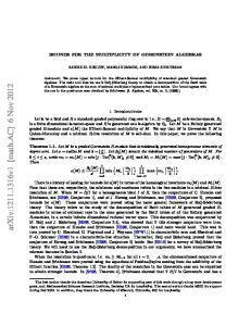 arxiv: v1 [math.ac] 6 Nov 2012