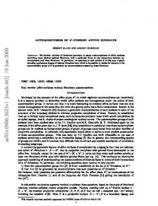 arxiv: v1 [math.ag] 19 Jun 2009