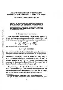 arxiv: v1 [math.cv] 2 Feb 2011