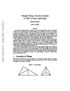 arxiv: v1 [math.mg] 5 Jun 2012