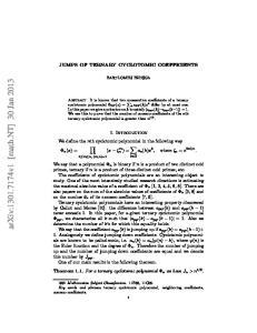 arxiv: v1 [math.nt] 30 Jan 2013
