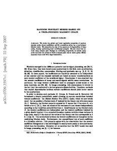 arxiv: v1 [math.pr] 22 Sep 2007