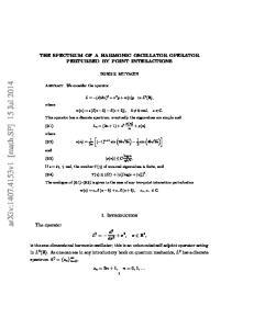 arxiv: v1 [math.sp] 15 Jul 2014