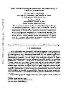 arxiv: v1 [physics.ao-ph] 19 Apr 2010