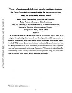 arxiv: v1 [physics.chem-ph] 22 Jul 2010