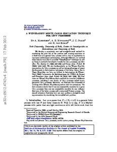 arxiv: v4 [math.pr] 17 Feb 2012