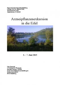 Arzneipflanzenexkursion in die Eifel