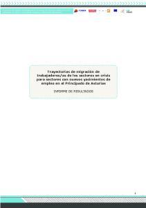 as de los sectores en crisis para sectores con nuevos yacimientos de empleo en el Principado de Asturias