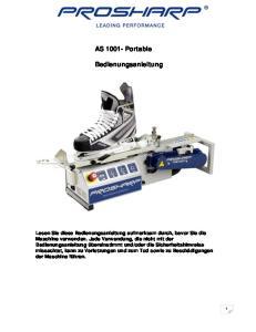 AS Portable. Bedienungsanleitung