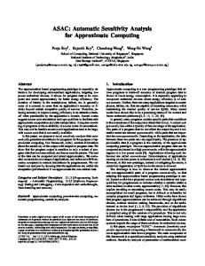 ASAC: Automatic Sensitivity Analysis for Approximate Computing