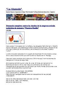 Asamblea Popular y Cooperativa de Trabajo 20 de Diciembre de Parque Avellaneda, Buenos Aires Argentina
