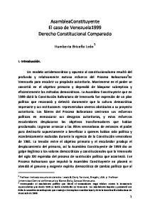 AsambleaConstituyente El caso de Venezuela1999 Derecho Constitucional Comparado