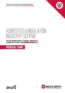 ASBESTOS & insulation industry scheme