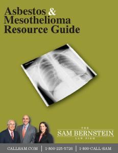 Asbestos & Mesothelioma Resource Guide