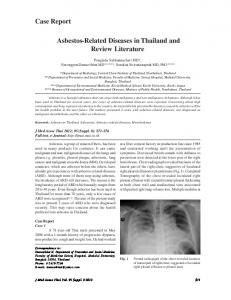Asbestos-Related Diseases in Thailand and Review Literature