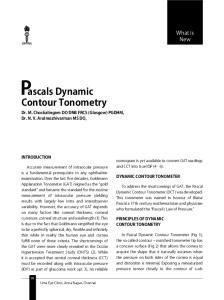 ascals Dynamic Contour Tonometry